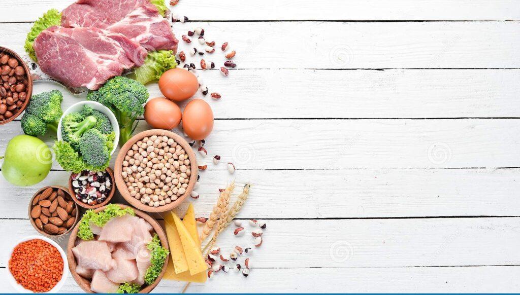 جدول نسبة البروتين في الأغذية